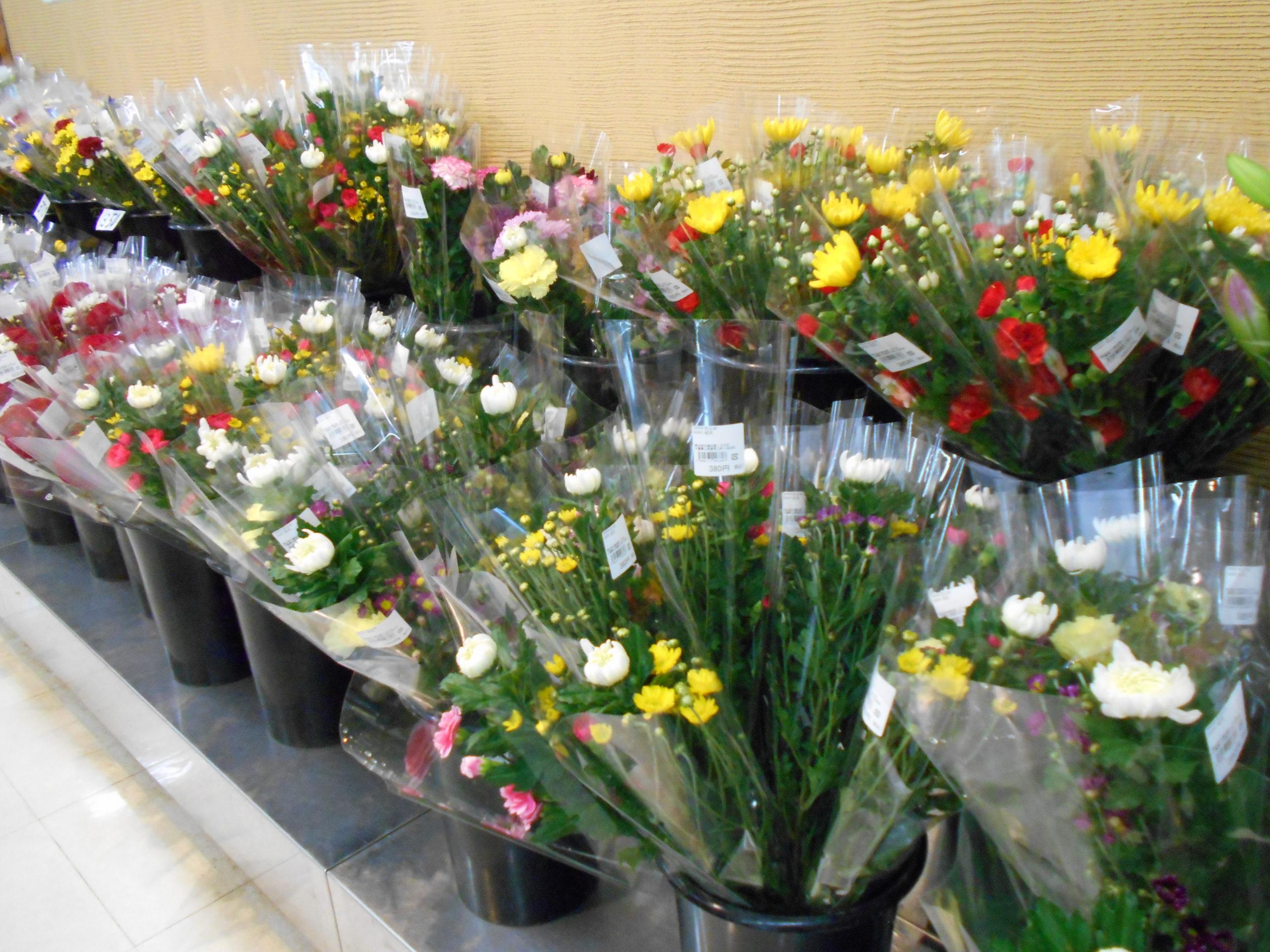 お彼岸用切り花の販売
